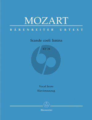 Mozart Scande Coeli Limina KV 34 (Sopr.-SATB-Clar.1 / 2 - Timp.- 2 Vi.-Bc) (Vocal Score) (Barenreiter)