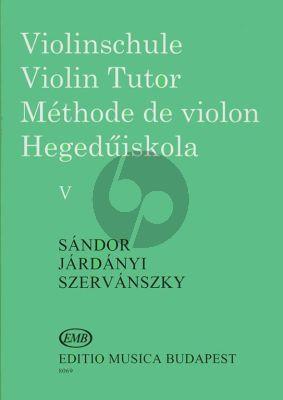 Sandor Violin Method Vol.5 (Violinschule - Violin Tutor)