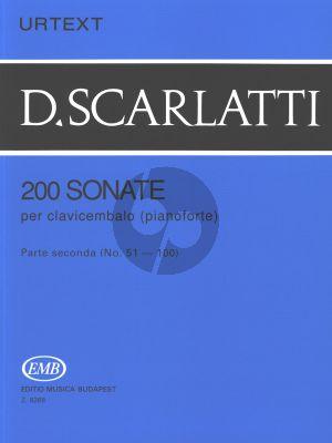 Scarlatti 200 Sonatas Vol.2 Harpsichord (Urtext) (edited by G.Balla)