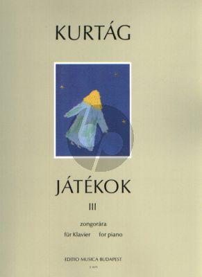Kurtag Jatekok - Games Vol. 3 Piano