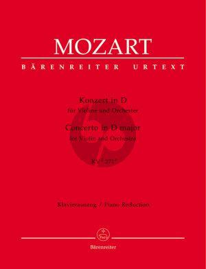 Mozart Concerto D-major KV 271 (271i) (Violin-Orch.) piano red. (Barenreiter)
