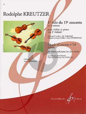 Kreutzer Concerto No.19 d-minor 1e Solo Violin-Piano