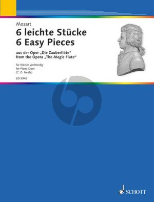 Mozart 6 Easy Pieces from the Magic Flute Piano 4 hds. (Neefe) (Grade 2 - 3)
