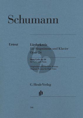 Schumann Liederkreis Op.24 High (Orig.) (Kazuko Ozawa) (Henle-Urtext)