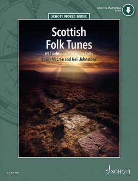 Scottish Folktunes for Cello (69 Traditional Pieces (Book with Audio online) (Kevin McCrae and Neil Johnstone)