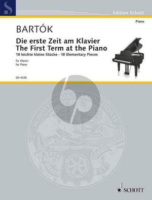 Bartok Die erste Zeit am Klavier (The First term at the Piano)
