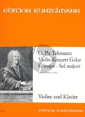 Konzert G-dur TWV 51:G8 Violine-Streicher-Bc