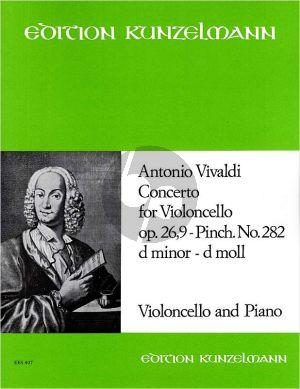 Vivaldi Concerto d-minor RV 406 (Op.26 No.9) Violoncello-Streicher-Bc (KA) (Pal Gombas)