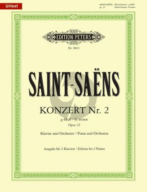Saint-Saens Concerto No.2 g-minor Op.22 Piano and Orchestra (piano reduction) (edited by Klaus Burmeister)