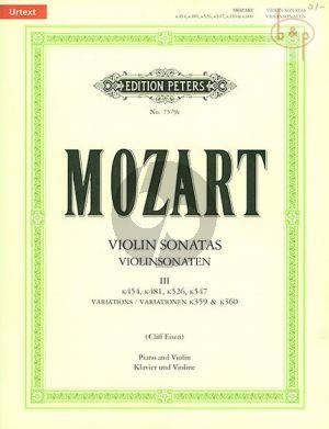 Sonaten Vol.3 (KV 454 / 481 / 526 / 547 + Variations KV 359 - 360)