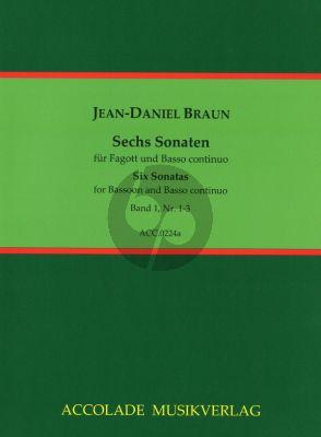 Braun 6 Sonatas Vol.1 Bassoon (or Violoncello) and Bc (Jean-Christophe Dassonville)