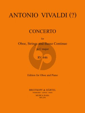 Vivaldi Concerto C-major RV 446 Oboe-Strings-Bc (piano red.) (Caldini)