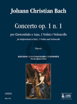 Bach 6 Concertos Op.1 No.1 Harpsichord[Harp)- 2 Violins-Violonc. (piano red.) (Pasetti)