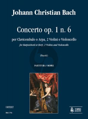Bach 6 Concertos Op.1 No.6 Harpsichord[Harp]- 2 Violins-Violonc. Score (Anna Pasetti)