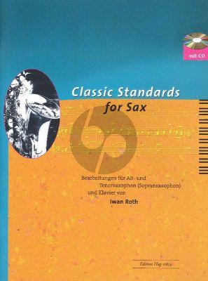 Classic Standards for Saxophone Alto- or Tenor Sax.-Klavier (Roth)