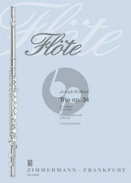 Kuffner Trio Opus 34 3 Flutes (Score/Parts) (Thomas Richter) (grade 6)