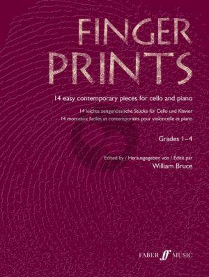 Fingerprints (14 Contemporary Pieces) (Violoncello-Piano) (Grades 1-4) (Bruce)