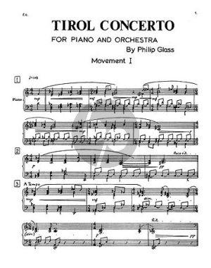 Glass Tirol Concerto Piano-Orchestra (Piano Solo Part)