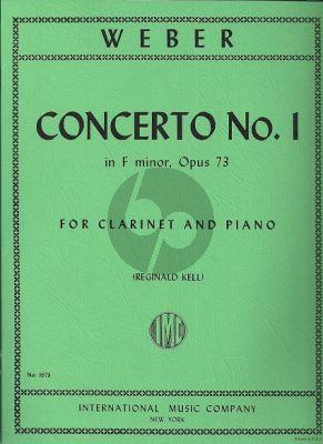 Weber Concerto No.1 Op.73 f-minor Clarinet-Piano (edited Reginald Kell)