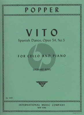 Popper Vito - Spanish Dance Op.54 No.5 Cello-Piano (Leonard Rose)