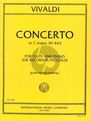 Vivaldi Concerto C-major RV 443 Flute (Piccolo) and Piano (Jen-Pierre Rampal)