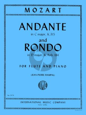 Mozart Andante C-major KV 315 and Rondo D-major (KV 184 Anh.) Flute-Piano (Rampal)