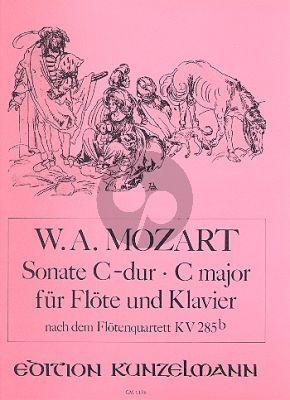 Mozart Sonata C-dur (nach Quartett KV 285b (Anh.171) Flöte-Klavier