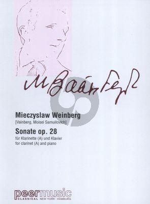 Weinberg Sonate (1945) Op.28 Klarinette in A und Klavier (Peer)