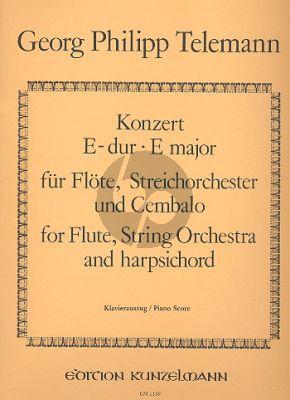 Telemann Konzert E-dur TWV 51:E1 Flöte-Streicher-Bc (KA) (ed. Janos Malina)