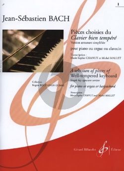 Bach Well-tempered Clavier vol.1 Selection (simplified) (Chanut-Mallet)