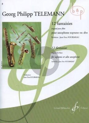 Telemann 12 Fantasies Soprano- or Alto Saxophone (orig. for flute) (transcr. Fourmeau)