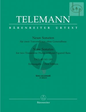 9 Sonaten TWV 40:141 - 149 (Reipsch)