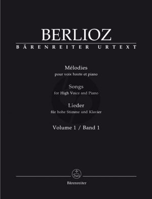 Berlioz Melodies Vol. 1 High Voice (edited by Ian Rumbold)