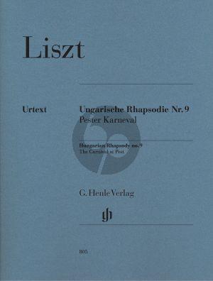 Liszt Ungarische Rhapsodie No.9 (Pester Karnaval) (Henle-Urtext)