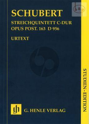 Quintet C-major D.956 Op.Posth.163 (2 Vi.-Va.- 2 Vc.) (Study Score)
