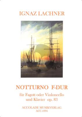 Lachner Notturno F-major Op.83 (Fagott oder Violoncello und Klavier) (Herausgeber: Christoph Wandinger)