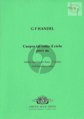 Handel Cuopre tal volto il cielo (Bass-2 Vi.-Bc) (Score/Parts)