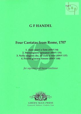4 Cantatas from Rome 1707 Soprano-Bc