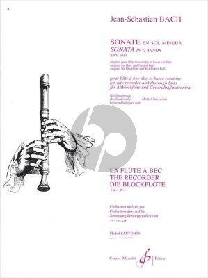 Bach Sonate g-minor BWV 1034 (Sanvoisin) (adv.) (grade 7)