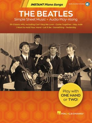 The Beatles – Instant Piano Songs (Book with Audio online)