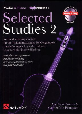Dezaire-Rompaey Selected Studies Vol.2 Violin (with Piano Accomp.) (Bk-Cd) (Pos.1 - 3)