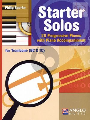 Starter Solos (20 Progressive Pieces) (Trombone with Piano Accomp.) (TC/BC)