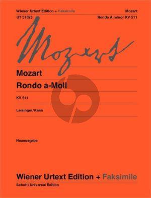 Mozart Rondo a-moll KV 511 Klavier (Leisinger-Kann) (Wiener-Urtext) (grade 4)