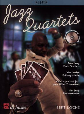 Lochs Jazz Quartets 4 Flutes (Score/Parts) (Bk-Cd) (easy to interm.level)
