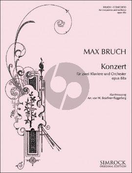 Bruch Konzert Opus 88a 2 Klaviere und Orchester (Klavierauszug 3 Klaviere zu 6 Hde)