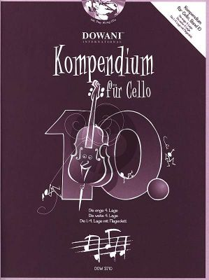 Kompendium für Cello Vol. 10 (Buch mit 2 CD's)