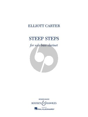 Carter Steep Steps for Solo Bass Clarinet