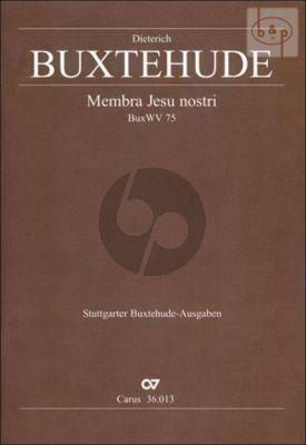 Membra Jesu Nostri BuxWV 75 SSATB-Str.-Bc Vocal Score