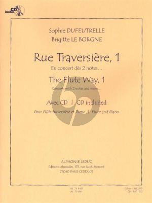 Rue Traversiere - The Flute Way 1 (En Concert des 2 Notes) Flute et Piano (En Concert des 2 Notes) (Livre avec CD)