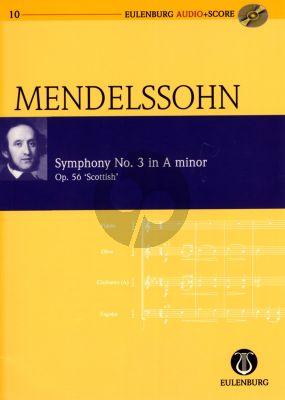 "Mendelssohn Symphony No.3 Op.56 ""Scottish"" Study Score (Study Score with Audio CD) (Boris von Haken, Martin Roddewig)"